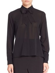 Alice Olivia Felipa Bow Detail Blouse Black