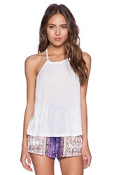 Minkpink After Party Low Back Tank White
