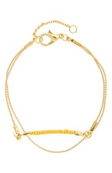 Junior Women's Leith Layered Beaded Bracelet Yellow Gold