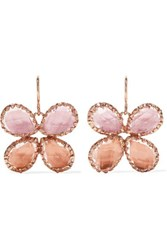 Larkspur And Hawk Sadie Butterfly Rose Gold Dipped Quartz Earrings One Size