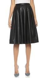 Blaque Label Vegan Leather Full Skirt Black