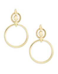 Badgley Mischka Geo Drop Earrings Gold