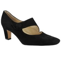 Peter Kaiser Olga Button Strap Court Shoes Black
