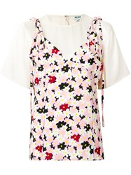 Kenzo Floral Layered Top Multicolour