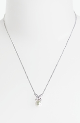 Majorica 'Butterfly' 8Mm Pearl Pendant Necklace Silver White Pearl