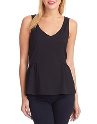 French Connection Peplum Tank Black