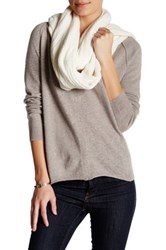 Inhabit Cashmere Blend Cable And Chain Link Knit Scarf Beige