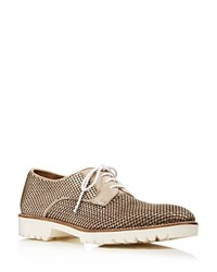 Bernardo Iris Perforated Oxfords Taupe