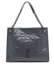 Saint Laurent Niki Large Quilted Tote Bag Dark Grey