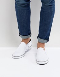 Tommy Hilfiger Iconic Slip On Canvas Plimsolls In White