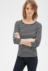 Forever 21 Nautical Striped Cotton Tee