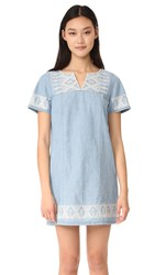 Madewell Embroidered Spring City Tunic Pina Wash