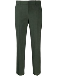 Theory Slim Fit Crop Trousers Green