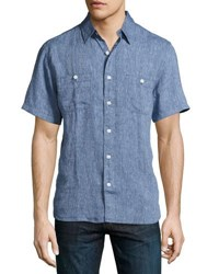 Faherty Short Sleeve Seasons Linen Shirt Multi