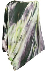 Maria Grachvogel Odyssey Printed Silk Crepe De Chine Top