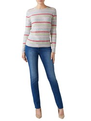 Pure Collection Slim Leg Jeans Mid Wash