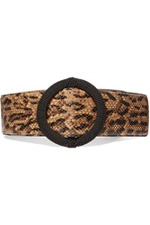 Saint Laurent Python Effect Leather Waist Belt Snake Print