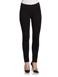 Saks Fifth Avenue Red Scuba Stretch Jersey Leggings Black