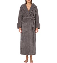The White Company Hooded Hydrocotton Dressing Gown Slate