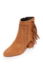 Rebecca Minkoff Ilan Fringe Booties Butterscotch