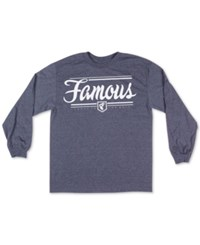 Famous Stars And Straps Men's Loyal Fam Graphic Print T Shirt Heathered Blue