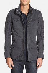 Men's Diesel 'Niraw' Twill Military Jacket Grey
