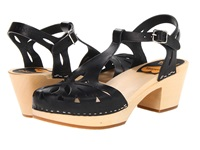 Swedish Hasbeens Lacy Sandal Black Nature High Heels