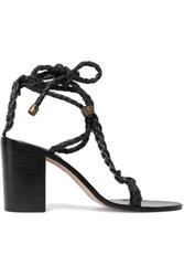 Zimmermann Woven Leather Sandals Black