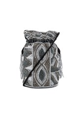 From St Xavier Duffie Drawstring Bag Metallic Silver