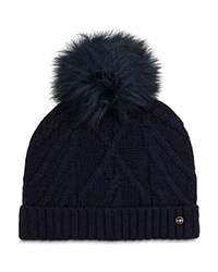 Ted Baker Atexia Cable Knit Beanie With Pom Pom