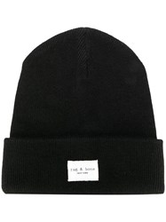 Rag And Bone Ribbed Logo Beanie 60