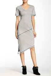 Go Couture Vintage Washed Asymmetric Dress Multi