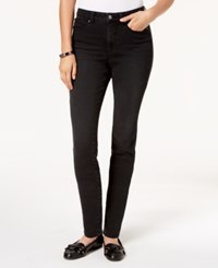 Charter Club Windham Tummy Control Skinny Jeans Black Diamond Wash