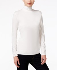 Styleandco. Style Co. Long Sleeve Mock Turtleneck Winter White