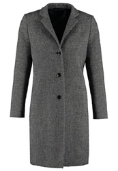 Gant Classic Coat Black Mottled Dark Grey