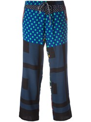 Pierre Louis Mascia Printed Trousers Green