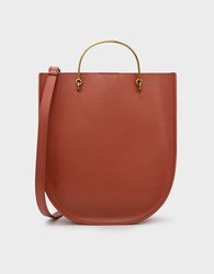 Charles And Keith Curved Edge Tote Bag Clay