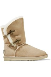 Australia Luxe Collective Renegade Shearling Boots Beige