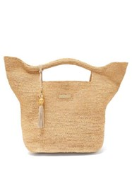 Heidi Klein Grace Bay Large Basket Bag Beige
