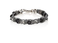 Emanuele Bicocchi Men's Braided Chain Bracelet Black