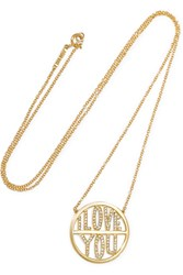 Jennifer Meyer I Love You 18 Karat Gold Diamond Necklace