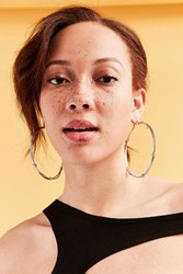 Urban Outfitters Barbed Statement Hoop Earring Silver