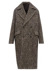 Raey Double Breasted Wool Blend Coat Grey