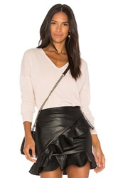 Leo And Sage Double V Neck Cashmere Sweater Blush