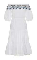 Peter Pilotto Off The Shoulder Pallas Dress White