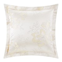 Pratesi Magnolia Jacquard Pillowcase Set Of 2 Neutral