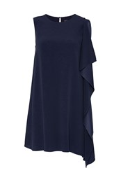 Hallhuber Asymmetric Smock Dress Blue