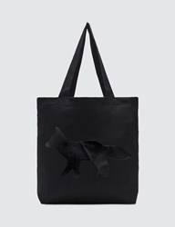 Maison Kitsune Black Fox Tote Bag