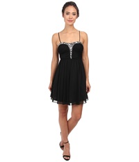 Alejandra Sky Rhinestone Bustier Dress Black Women's Dress