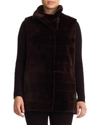 Gorski Reversible Sheared Mink Fur Vest Black